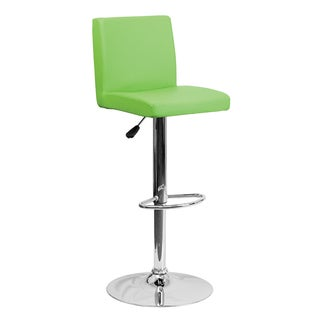 Offex Contemporary Vinyl Mid Back Adjustable Height Footrest Bar Stool With Gas Lift