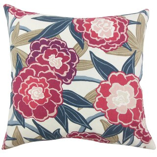 Winola Floral 22-inch Down Feather Throw Pillow Berry