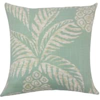 Zya Floral 22-inch Down Feather Throw Pillow Aqua