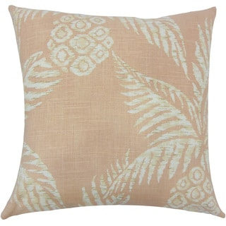 Zya Floral 22-inch Down Feather Throw Pillow Blush