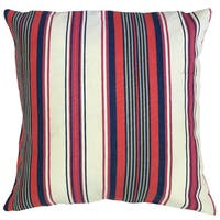 Warrick Striped 22-inch Down Feather Throw Pillow Multi