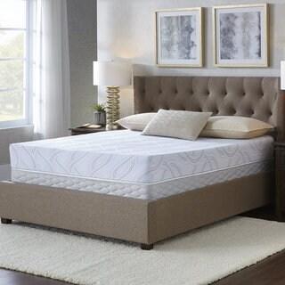 Serta Kirkshire 8-inch Cal King-size Gel Memory Foam Mattress Set