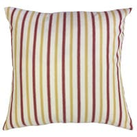 Xio Striped 22-inch Down Feather Throw Pillow Yellow/Red