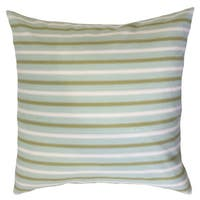 Xio Striped 22-inch Down Feather Throw Pillow Blue/Green