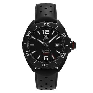 Tag Heuer Men's WAZ2115.FT8023 'Formula 1' Black Titanium Carbide Steel Automatic Dial Black Strap Watch