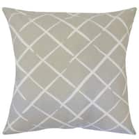 Parham Geometric 22-inch Down Feather Throw Pillow Oyster