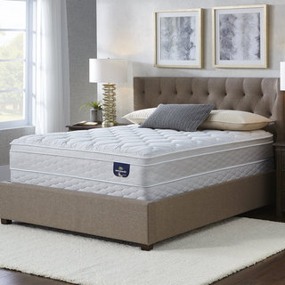 Serta Chrome Eurotop Twin XL-size Mattress Set