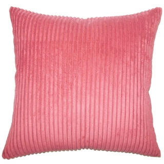 Calvine Solid 22-inch Down Feather Throw Pillow Berry