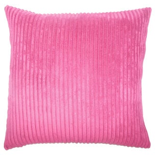 Calvine Solid 22-inch Down Feather Throw Pillow Mulberry