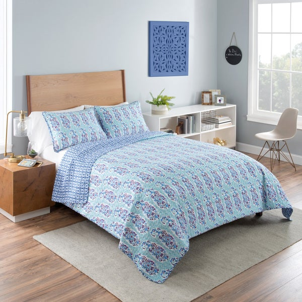 Vue Little India  Reversible 100% cotton Quilt Set