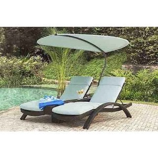 Double Canvas Spa Columbia Lounger