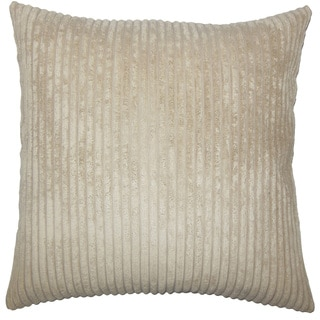 "Calvine Solid 22"" x 22"" Down Feather Throw Pillow Taupe"
