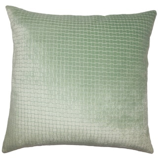 Earleen Solid 22-inch Down Feather Throw Pillow Seafoam