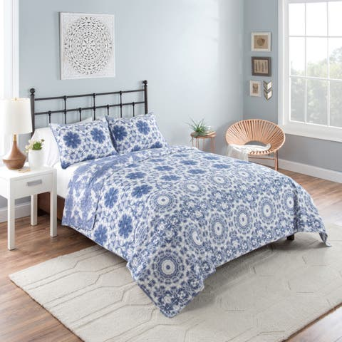 Vue Stella Reversible 100% cotton Quilt Set