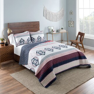Vue Mila Reversible 100% cotton Quilt Set