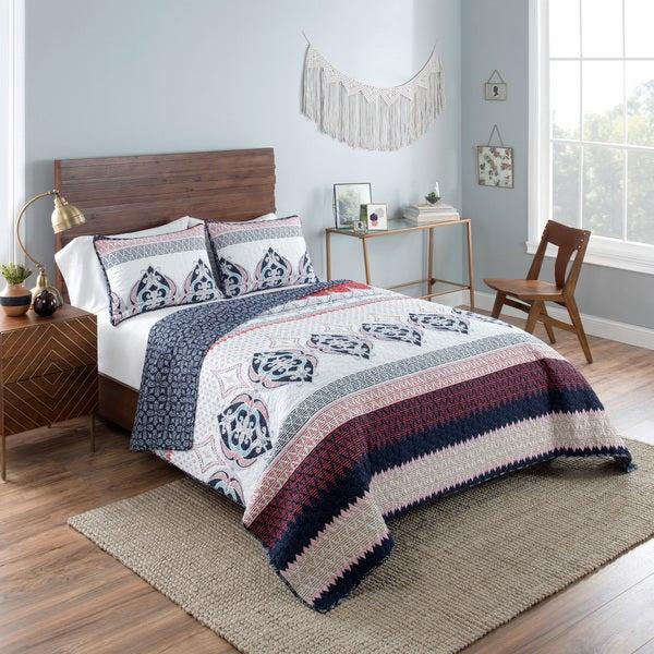 Vue Mila Reversible 100% cotton Quilt Set