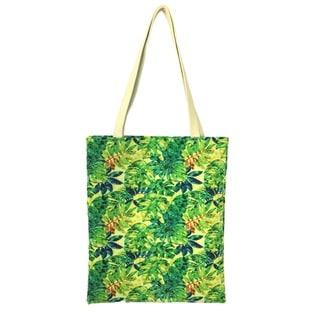 Red Pomegranate Jungle Fabric Tote Bag