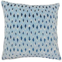 Ontibile Ikat 22-inch Down Feather Throw Pillow Chambray