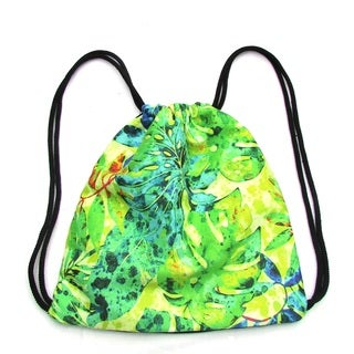Red Pomegranate Jungle Drawstring Backpack