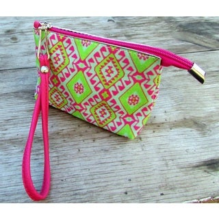 Red Pomegranate Amulet Wristlet Cosmetics Toiletry Bag