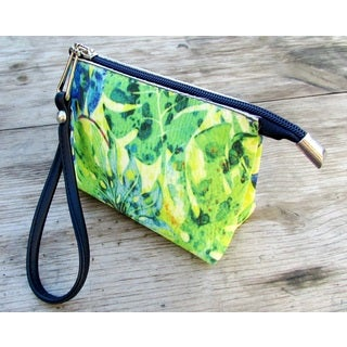 Red Pomegranate Jungle Wristlet Cosmetic Toiletry Bag