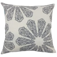 Ceilidh Ikat 22-inch Down Feather Throw Pillow Grey