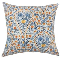 Jaetyn Ikat 22-inch Down Feather Throw Pillow Blue