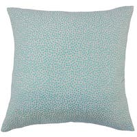 Latiece Ikat 22-inch Down Feather Throw Pillow Turquoise