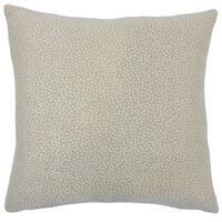 Latiece Ikat 22-inch Down Feather Throw Pillow Jute