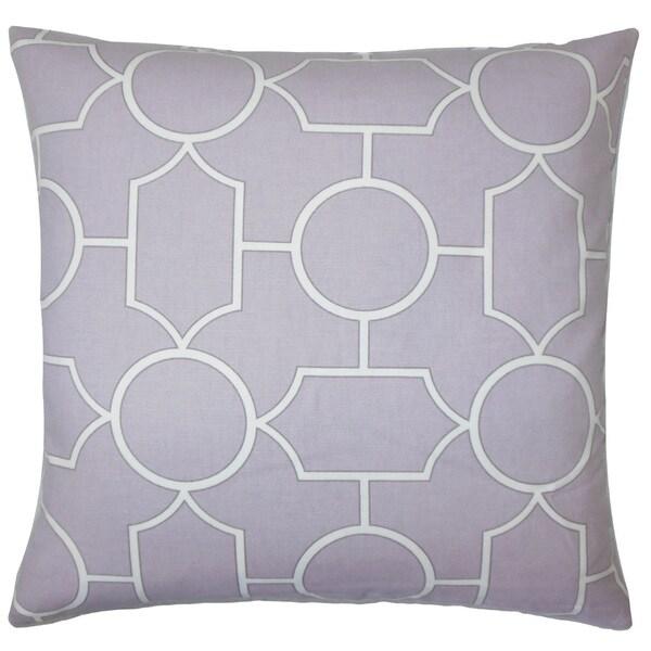 Samoset Geometric 22-inch Down Feather Throw Pillow Lavender