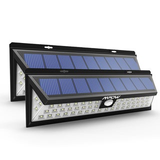 Mpow Black 54 LED Outdoor Waterproof Solar Power Sensor Lights (Set of 2)