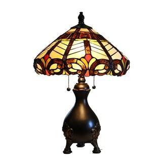 """Nashe 22"""" Tiffany-Style Table Lamp"""