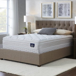Serta Chrome Eurotop Cal King-size Mattress Set