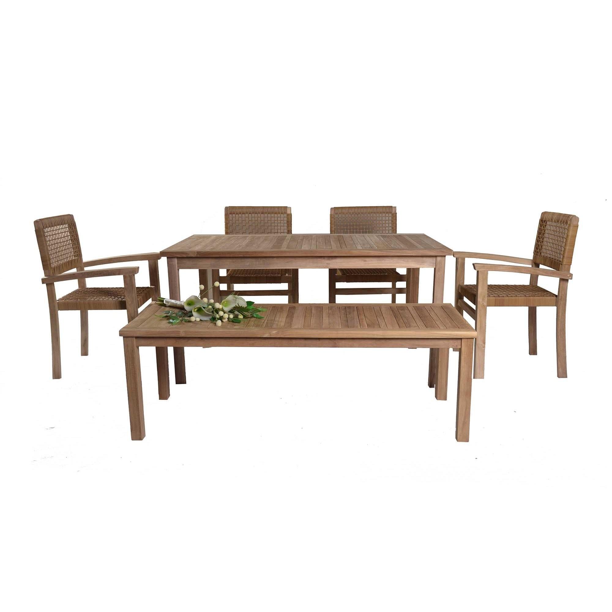 SunJoy Cebu Dining Set, Brown, Size 6-Piece Sets, Patio F...