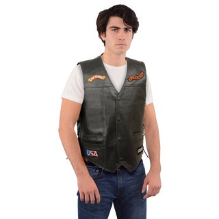MEN'S SIDE LACE EAGLE AND FLAG PRE-PATCHED VEST