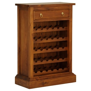 NES Fine Handcrafted Furniture Solid Mahogany Wood Georgianna Wine Rack - 44 inches