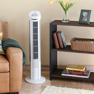 Seville Classics UltraSlimline 40 inch Oscillating Tower Fan, White
