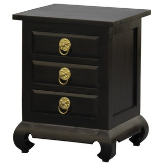 NES Fine Handcrafted Furniture Solid Mahogany Wood Shanghai Nightstand / Bedside Table - 26 inches