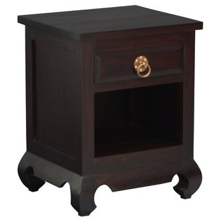 NES Fine Handcrafted Furniture Solid Mahogany Wood Shanghai Nightstand / Bedside Cabinet - 26 inches