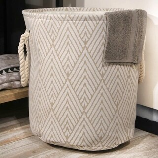 3pc Laundry Hamper with Rope Handles in Arrow Pattern