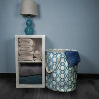 Key Lattice Pattern Laundry Hamper with Rope Handles 3-piece Set