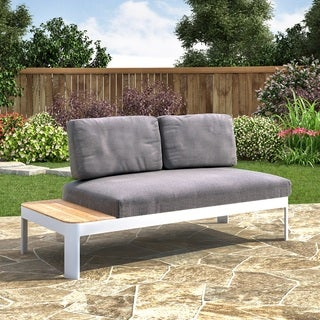 Harper Blvd Camelia Aluminum Outdoor Convertible Lounger/Modular Loveseat with Cushions