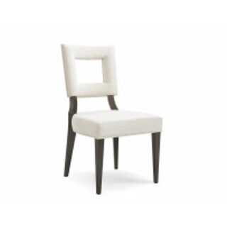 Bassett Mirror Elston Taupe Hardwood/Linen Fabric Cut-out Back Dining Chair (Set of 2)