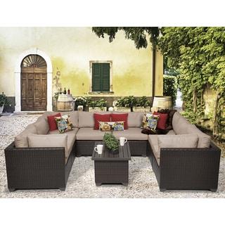 Belle 9 Piece Outdoor Wicker Patio Furniture Set 09a