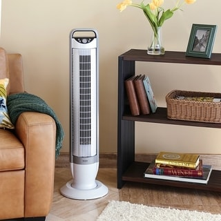 Seville Classics UltraSlimline 40 in. Oscillating Tower Fan with Tilt Feature