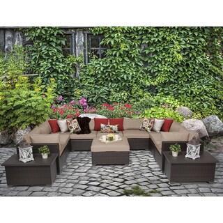 Belle 12 Piece Outdoor Wicker Patio Furniture Set 12a