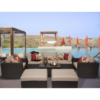 Belle 8 Piece Outdoor Wicker Patio Furniture Set 08a