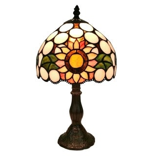 Amora Lighting Tiffany Style AM209TL08 Table Lamp 15 Inches Tall