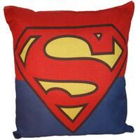 Lillowz Superman Symbol Canvas Throw Pillow 17-inch