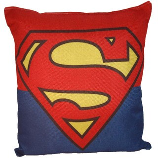 Lillowz Superman Symbol Canvas Throw Pillow 17-inch